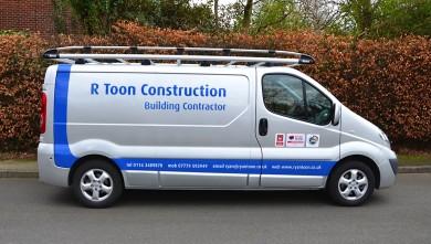 R Toon Construction Work Van in Birstall